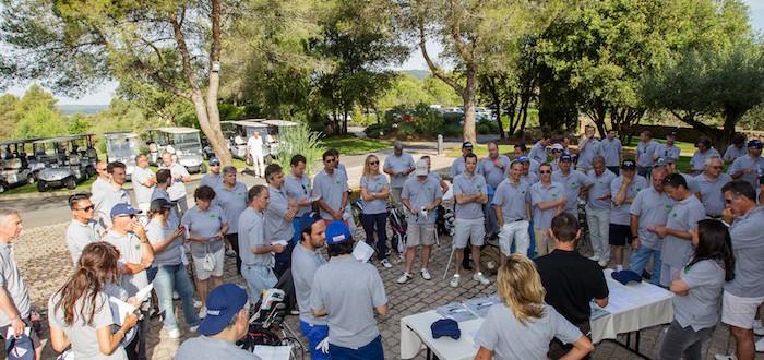 équipe du challenge de golf organisé par l'agence événementielle Soleïance